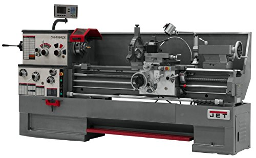 JET GH-1880ZX Lathe with 2-axis ACU-RITE DRO 200S, Collet Closer and Taper Attachment Installed