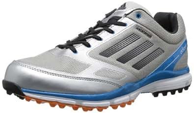 adidas Men's Adizero Sport II Golf Shoe,Metallic Silver/Carbon/Solar Blue,7 M US