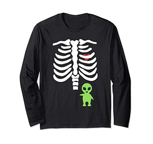 (Funny Halloween Skeleton Alien Baby Costume Long)
