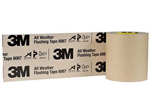 3M All Weather Flashing Tape 8067 Tan, 6 in x 75 ft Slit Liner (Pack of 1)