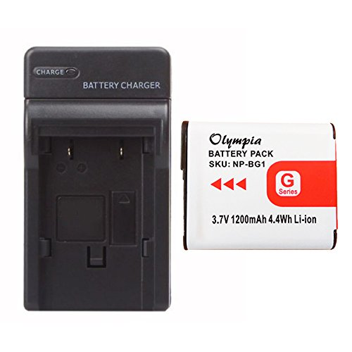Sony Cybershot DSC-W70 Battery & Charger Set - Replacement for Sony Cybershot Camera Battery & Charger Kit (1200mAh, 3.7V, Li-Ion) -
