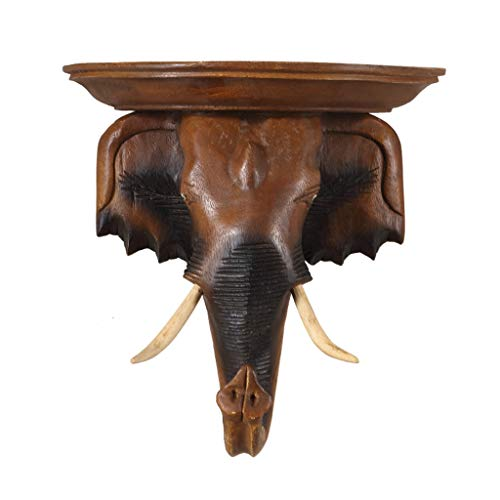 HGXC WY Elephant Wall Hanging, Living Room Staircase woodcarving Hand Carved Wall Ornament Art
