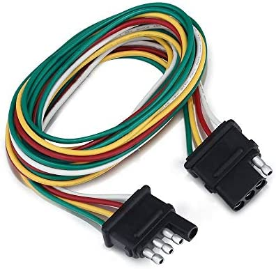 4 Way Flat Trailer Wiring Harness Universal 6ft 4 Pin Wiring Connector  Way Trailer Wiring Harness Color Coding on