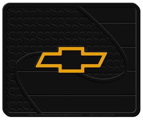 Plasticolor Chevy Gold Bowtie Factory Style Molded Utility Mat- 14' 001022R01