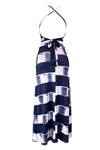 Piezas De Vestido Mujer Correa Tops Crop Hendidura Long 2 Beach La De YACUN Navy Falda S De De wAqxff