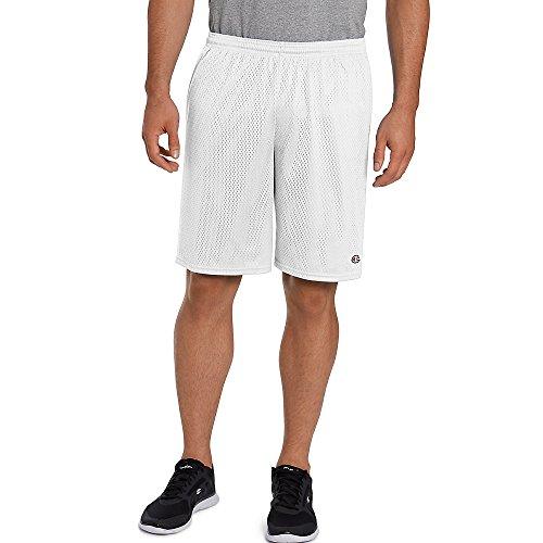 Champion Long Mesh Men's Shorts with Pockets White 3XL