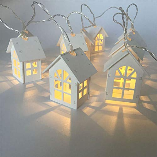 H+K+L 1.5M 10 LED European House Shaped String Light, Battery Powered Decoration Fairy Light - Perfect for Home, Party, Wedding,Festivals (Warm White) by H+K+L (Image #3)