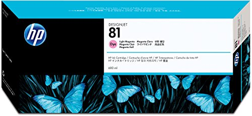 (HP 81 C4935A Ink Cartridge for DesignJet 5000 series, 680ml, Light Magenta)