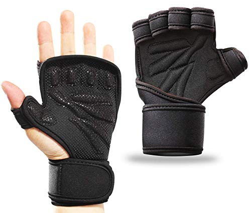 Smago Weight Lifting Gloves, Breathable Soft Workout Gloves with Extra Grip, Exercise Gloves, Gym Gloves for Powerlifting, Fitness, Cross Training for Men - Breathable Glove