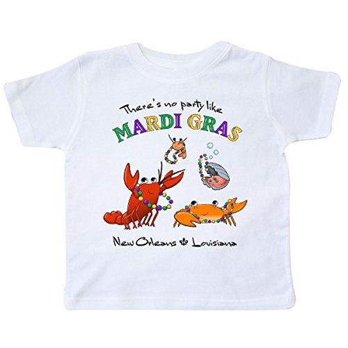 inktastic - There's No Party Like Mardi Gras with Toddler T-Shirt 2T White 288dc ()