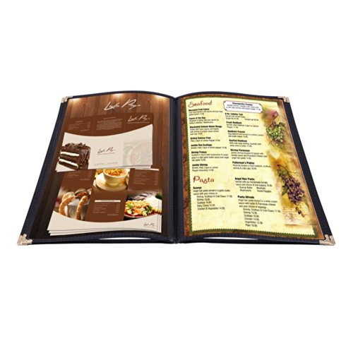 Yescom Cover 8 5x11inches Restaurant Folder