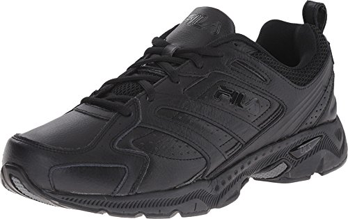Fila Men's Capture Running Shoe,Triple Black,8.5 M US