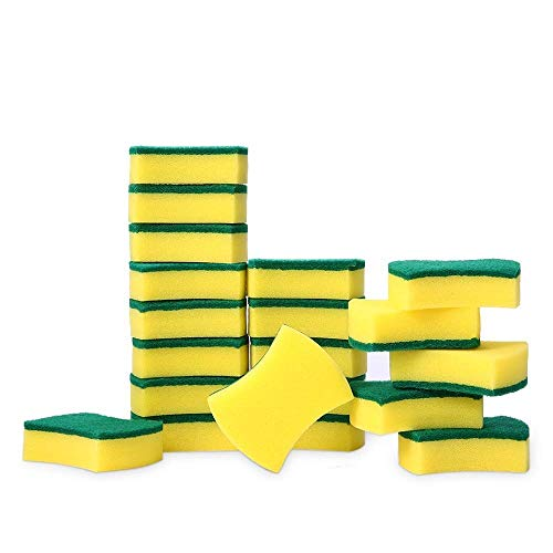Magiin 20 Pack Heavy Duty Scrub Sponge, Multi-Use Magic Cleaning Sponges Eraser Sponge Cleaning Pads voor Keuken…