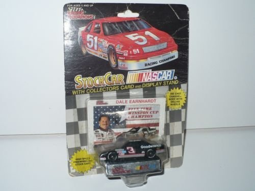 Five 5 Time Champion Racing Champions Dale Earnhardt Sr #3 GM Goodwrench Monte Carlo Black Window car 1/64 Scale Diecast With Photo Collectors card Insert (Champions 3 Photo)