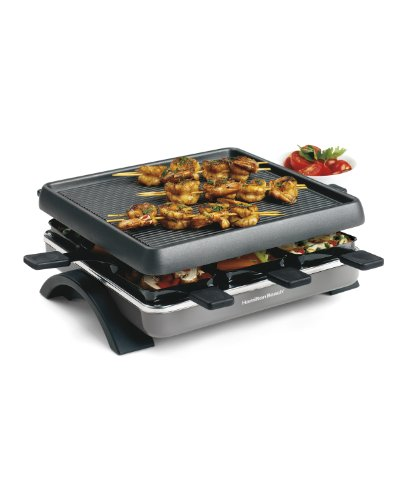Hamilton Beach 31602 Raclette 8-Person Party Grill (Raclette Trays compare prices)