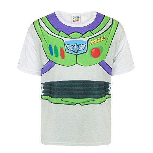 Toy Story Disney Buzz Lightyear Costume Boy's T-Shirt (9-10 Years) White