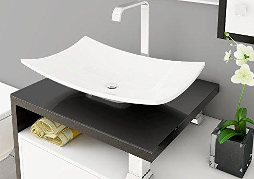 Cuba Pia De Apoio Para Banheiro Lavabo Toleato Bari 43 Cm Marmorite Branco