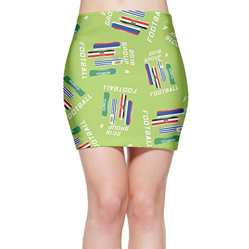 SKIRTS WWE 2018-FOOTBALL-GROUP-A- Women Package Hip High Waisted Mini Short Skirts by SKIRTS WWE