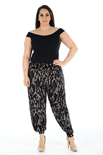 Mocha Tiedie Mujer Para Comfiestyle Harem Pantalón IxYSUqB4