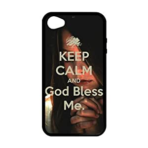 iphone 5c iphone 5c Case, [keep clam and god bless]iphone 5c iphone 5c Case Custom Durable Case Cover for iPhone4s TPU case (Laser Technology)