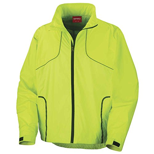Spiro Training amp; Lime Mens Unisex Sports Ladies Neon Track Crosslite And Trail Jacket qpSrzqw