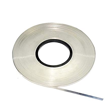 Kamas 1kg//roll 0.1mm 0.2mm 0.15mm 0.12mm Nickel Plated Steel Strap Strip Sheets 18650 battery spot welding Battery connecting piece Diameter: 0.12x8mm