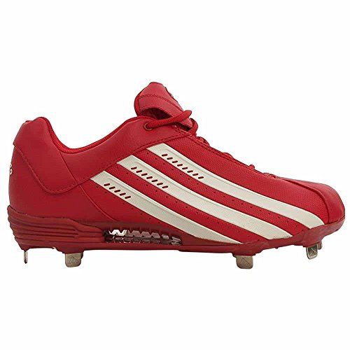 Adidas Clima Phenom Lo Schoenplaatjes Honkbalschoenen Wit Heren Rood