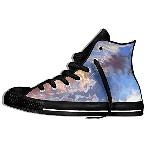 Abstract Oil Painting High Top Classic Canvas Shoes Fashion Sneaker Black kzmeln7