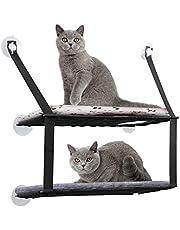 DADYPET Hamac de Fenêtre pour Chat, Hamac Chat Ventouse, Doux et Confortable, Double Couche, Capacité de Charge 26 Livres (12KG), 59 * 33cm