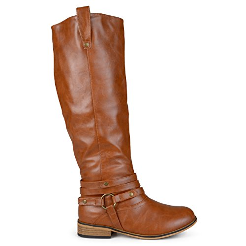 Tall Brown Boots (Brinley Co Women's Bailey Riding Boot, Chestnut, 6 M US)