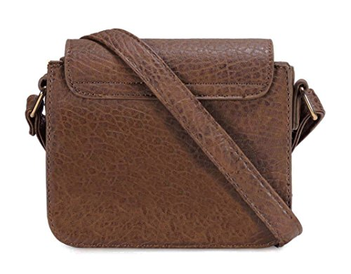Scarleton Mini H1963 Brown Crossbody Saddle Bag f4PvBrfq