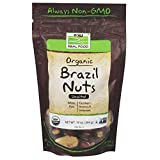 NOW Foods, Certified Organic Brazil Nuts, Whole, Raw and Unsalted, Source of Selenim and Magnesium, 10-Ounce