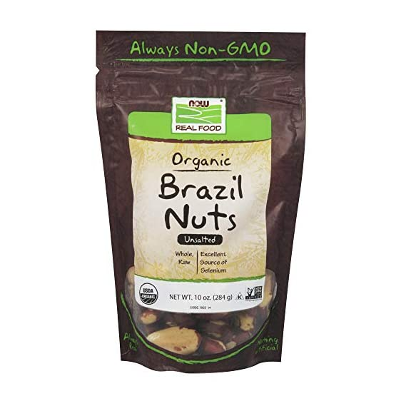 Now Foods Organic Brazil Nuts, 10 Ounce
