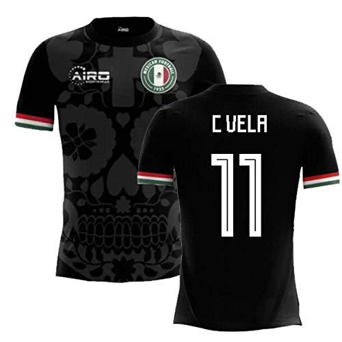 Jersey Mexico Third (Airosportswear 2018-2019 Mexico Third Concept Football Soccer T-Shirt Jersey (Carlos Vela 11) - Kids)