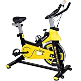 Exercise Bike,Spinning Bike Pro Indoor Cycling Bike Trainer Belt Drive Stationary Bike with Heart Rate Mini Exercise Bike for Home Cardio Workout Gym