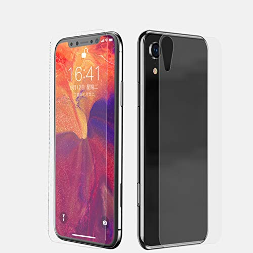 iphone xr glass case front and back