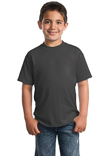 Port & Company - Youth Core Blend Tee. PC55Y Charcoal XL ()