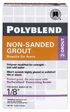 Polyblend Non-Sanded Colored Tile Grout Dry Charcoal 10 Lb