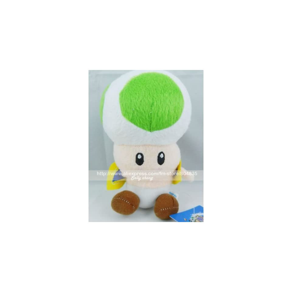 whole super mario bros 6 toad soft stuffed plush by super mario brothers 20pcs/lot 20110907