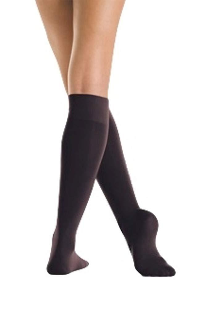 Mondor Light Opaque Knee High Skating Socks (Black, Junior) by Mondor