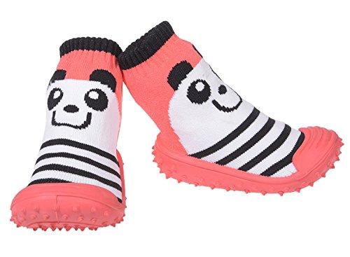 Calcetines para bebé, Suela de Goma ABS Antideslizante, para baño Rosa-Panda