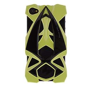 HP-Coche diseñado cambia de verde a café y noctilucentes en luz ultravioleta u Oscuridad dura del caso para el iPhone 4/4S