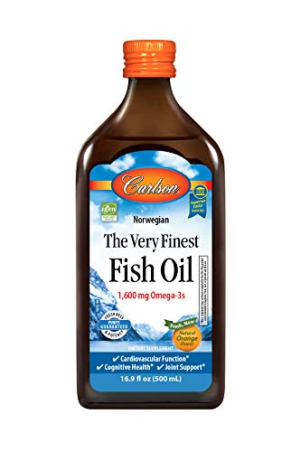 Carlson - The Very Finest Fish Oil, 1600 mg Omega-3s, Norwegian, Sustainably Sourced, Orange, 500 ml