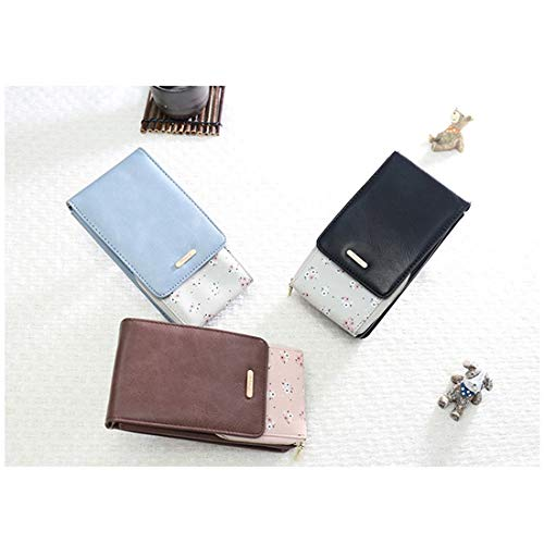 tracolla D Mobile sua Mini da donna a floreale Card Borsa tasca Deebubblering pelle Coin Borsa in Pu multifunzione La Uw7C5q