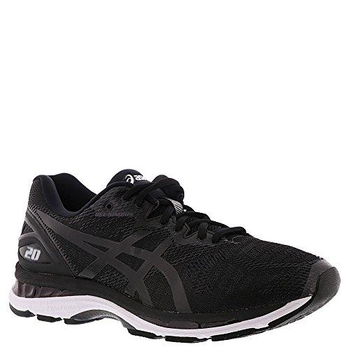 ASICS Men's Gel-Nimbus 20 Running Shoe, Black/White/Carbon, 10 4E US