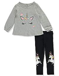 Freestyle Revolution Girls' Shy Unicorn 2-Piece Leggings Set Outfit
