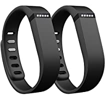 SKYLET Replacement Bands for Fitbit Flex(Large,Black&Black)