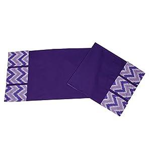 Bacati – Mix N Match Ikat Zigzag/Chevron Nursery Storage (Changing Table Storage Runner, Purple)