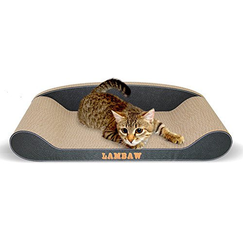 Petacc Multi-functional Cat Scratching Lounge Practical Cat Scratcher Couch Durable Kitty Scratching Pad, Suitable for Indoor Use