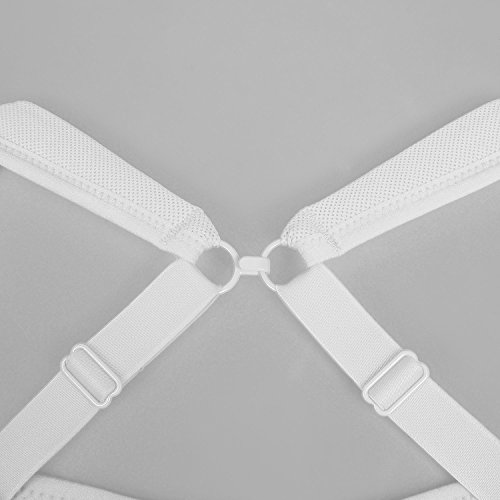 SYROKAN - Sujetador Deportivo Alto Impacto Con Aros Para Mujer Blanco